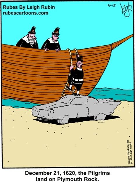 Pilgrims land on plymouth rock (2)