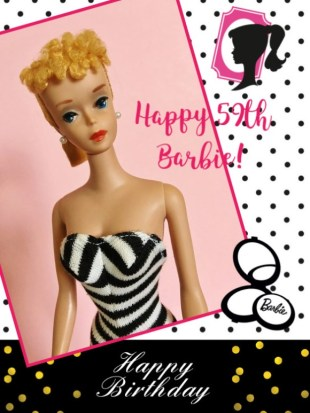 Happy 59th Birthday Barbie
