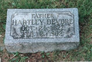 hartley devore grave marker