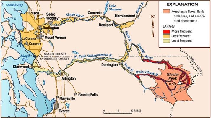 lahar flows glacier peak