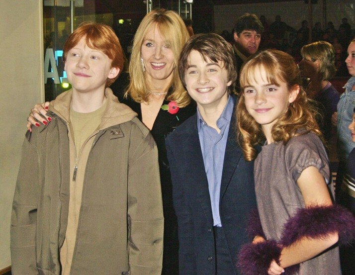 Harry Potter stars with JK Rowling