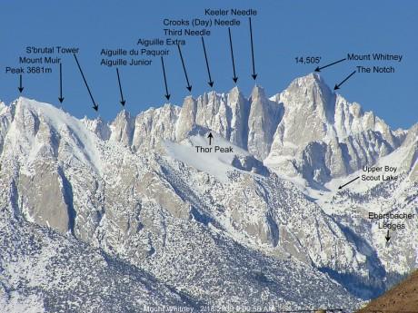 Mount Whitney peaks