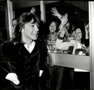 David Cassidy Pop Star At Manchester Airport.