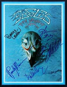 Eagles greatest hit autographed cover