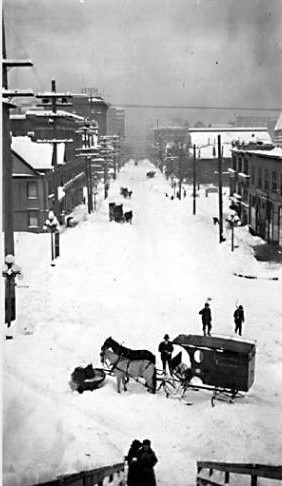 union street after 1916 snowstorm