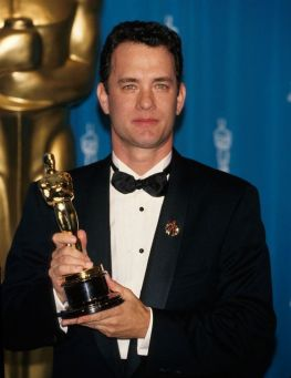 Hanks with Oscar