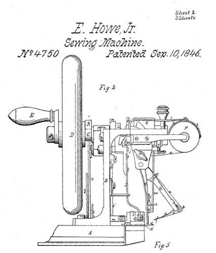 Elias-Howe-sewing-machine