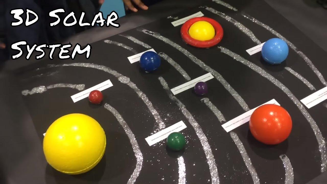 child's 3D solar system