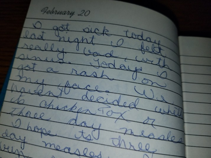 Barb's February 20 1974 Diary entry