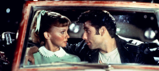 Danny and Sandy drive in scene